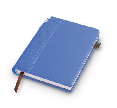 Medium Cross Blue Leatherette Journal - Padfolios & Journals