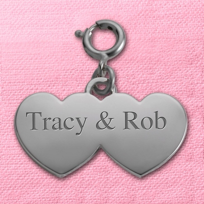 Double Heart Mini Charm - Couple's Gifts