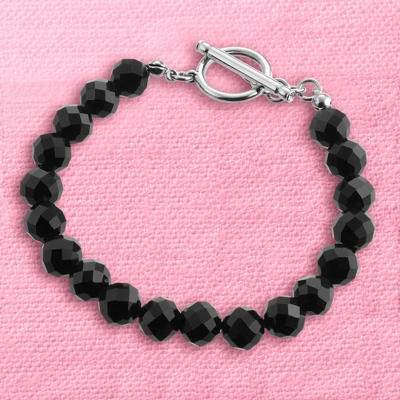 Black Faceted Bracelet