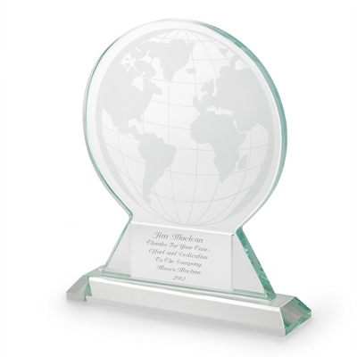 Jade Glass Globe Award - $45.00