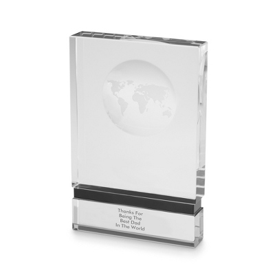 Globe Block Award - Grey Stripe