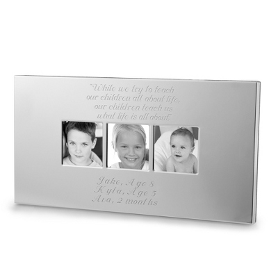 Engraved Silver Wedding Photo Frames