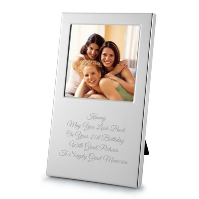 Engraved Silver Wedding Frame