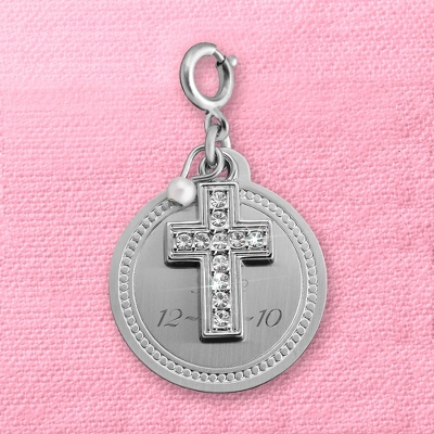 Girls Jewelry Engraved Cross
