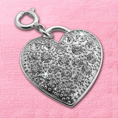 Crystal Heart Charm - $20.00
