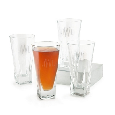 Monogrammed Crystal Glasses