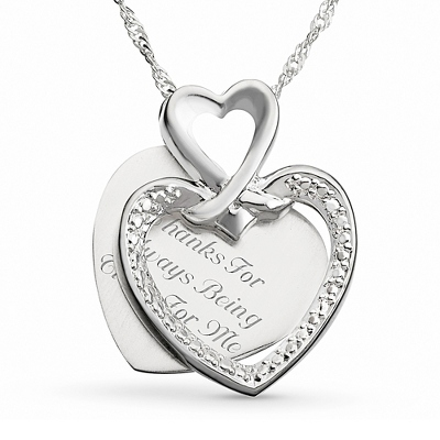 Me To You Necklace with complimentary Filigree Keepsake Box - Couple's Gifts
