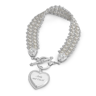 Pearl Double Strand Bracelet with complimentary Filigree Keepsake Box - UPC 825008227484