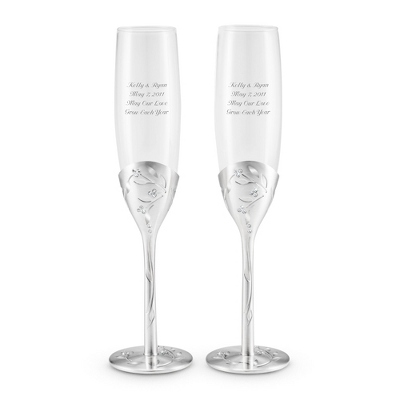 Leaves and Vines Toasting Flutes - UPC 825008228269
