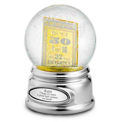 50th Birthday Water Globe