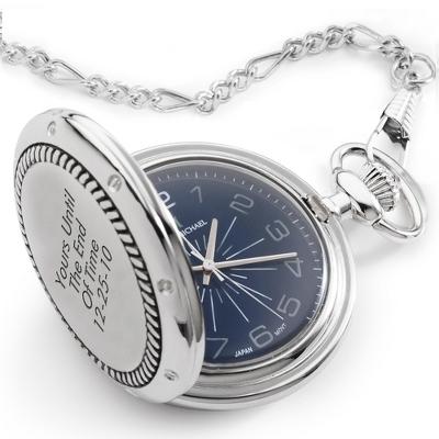 Blue Dial Rope Pocketwatch - $55.00