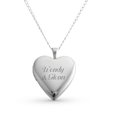 Silver Heart Lockets for Women