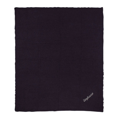 Twilight Navy Chenille Throw
