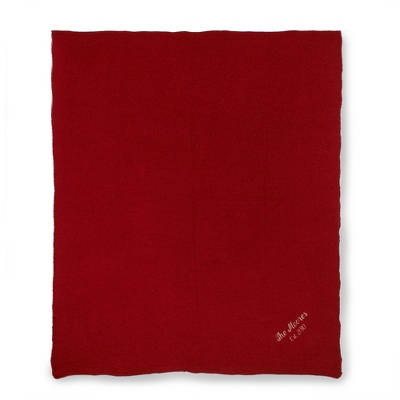 Tomato Chenille Throw