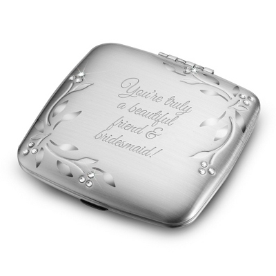 Personalized Compact Mirror Bridesmaid Gift