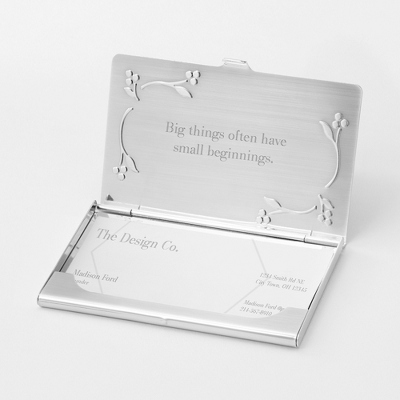 Personalized Leaves & Vines Card Case by Things Remembered