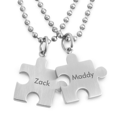 Puzzle Pendant Set with complimentary Tri Tone Valet Box - Men's Jewelry