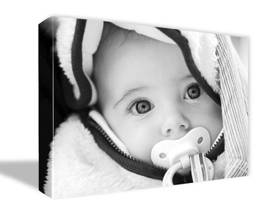 "8"" x 10"" Photo to Canvas Art: Black & White"