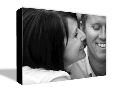 "16"" x 20"" Photo to Canvas Art: Black & White - Wedding Photo to Canvas Art"