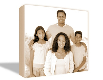 "24"" x 36"" Photo to Canvas Art: Sepia"