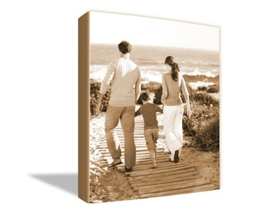 "30"" x 40"" Photo to Canvas Art: Sepia - UPC 825008234437"