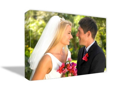 "18"" x 24"" Photo to Canvas Art: Artist Brushstroke"