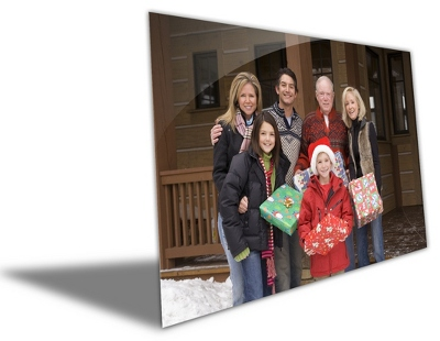 "11"" x 14"" Photo to Brushed Aluminum Art - Anniversary Frames & Albums"