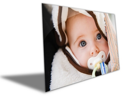 "12"" x 18"" Photo to Brushed Aluminum Art - Anniversary Frames & Albums"