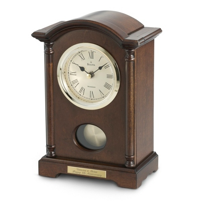 Bulova Wood Table Dalton Clock