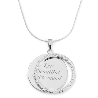 CZ Round Swing Necklace with complimentary Filigree Heart Box