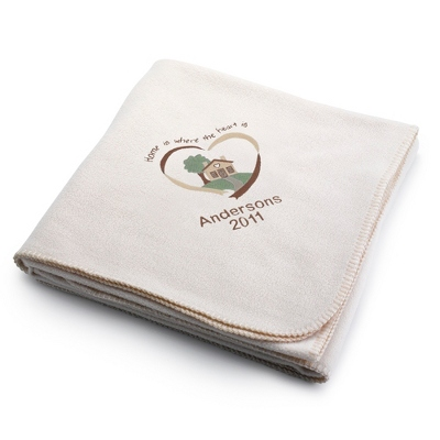 Winter White Home Is Where The Heart Is Fleece Blanket - $25.99