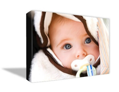 "24"" x 30"" Photo to Canvas Art: Artist Brushstroke"