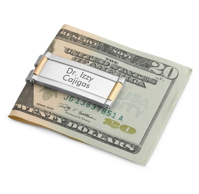 Personalized Classic Two-Tone Money Clip by Things Remembered