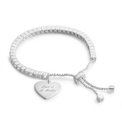 Lariat Bracelet with complimentary Filigree Heart Box - Bridal Jewelry