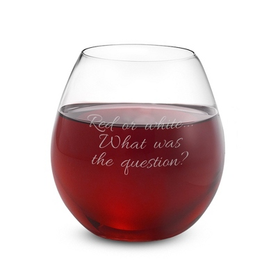 Engraved Colored Wine Glasses