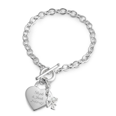 Silver Heart Bracelets for Women - 24 products