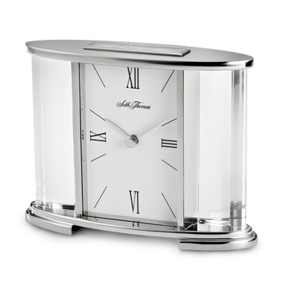 Seth Thomas Silver Glass Wedding Clock - Clearance Items for Office and Business