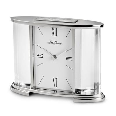 Seth Thomas Silver Glass Wedding Clock