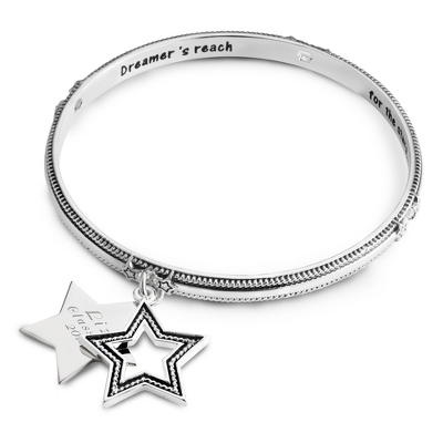 Expressions Star Rope Bangle with complimentary Filigree Oval Box - Fashion Bracelets & Bangles