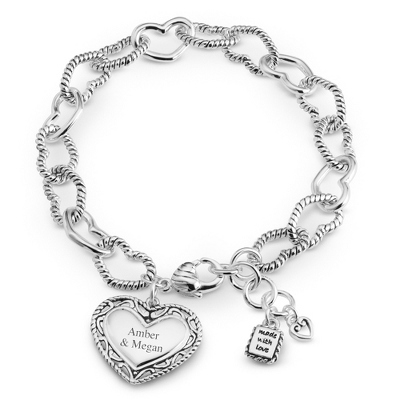 Silver Link Bracelet with Heart - 24 products