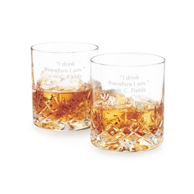 Cut Crystal Double Old Fashioned Set - Cut Crystal Gifts
