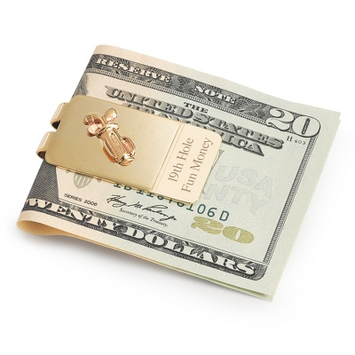 Personalized Golfer's Money Clip by Things Remembered