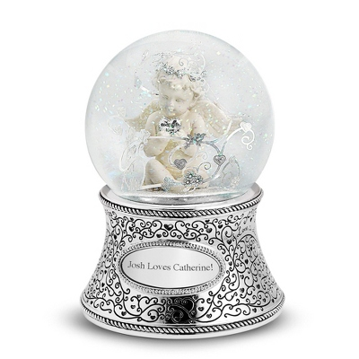 Cherub Musical Snow Globe