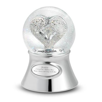 Make-A-Wish Heart Water Globe