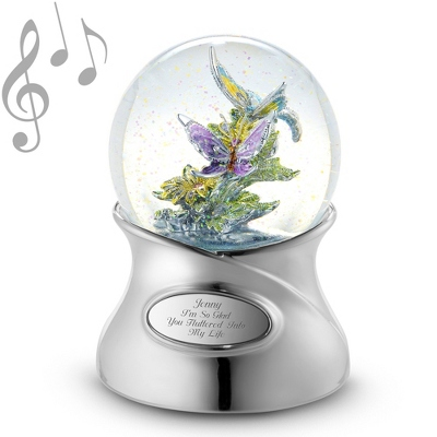 Shimmering Brilliance Butterfly Musical Snow Globe