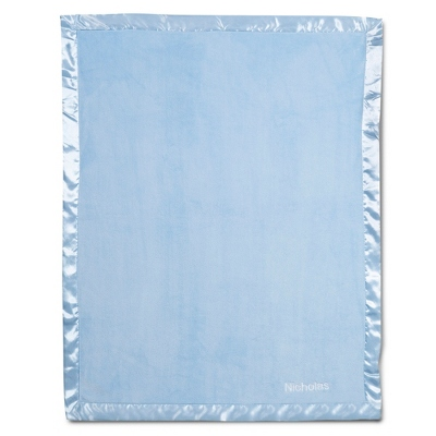 Light Blue Fleece Baby Blanket - UPC 825008241909