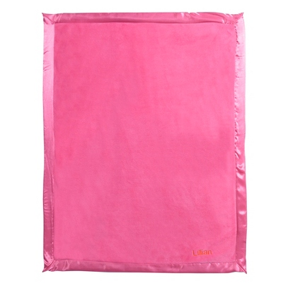 Bright Pink Fleece Baby Blanket - UPC 825008241916
