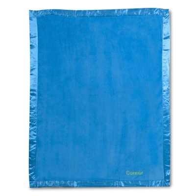 Bright Blue Fleece Baby Blanket - UPC 825008241923