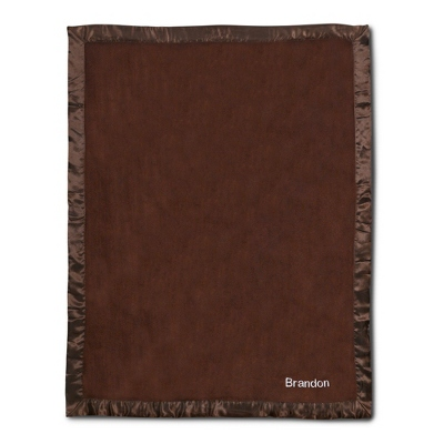 Chocolate Fleece Baby Blanket - UPC 825008241930