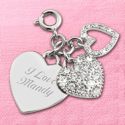 Personalized Heart Charms - 24 products